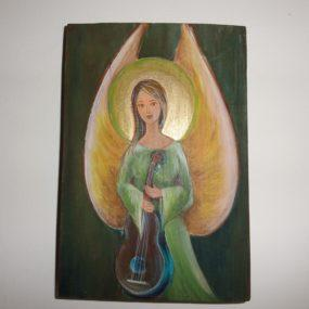 Obraz anioła ze skrzypcami