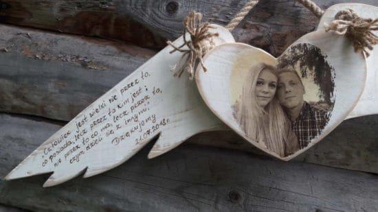 Pamiątka ślubna dla rodziców anielskie skrzydła