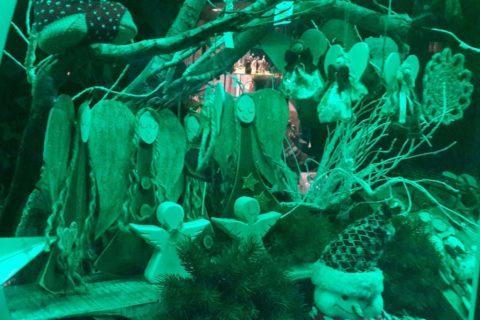 Bożonarodzeniowa dekoracja Bieszczadzkiej Aniołomanii