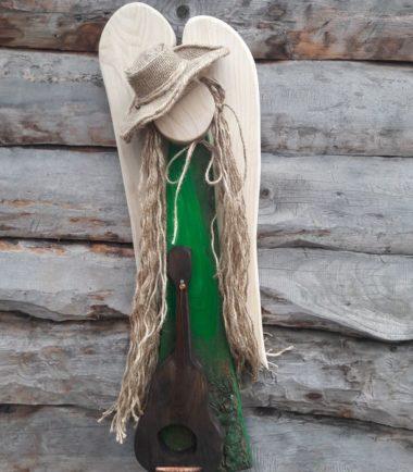Aniołek drewniany ręcznie robiony- Anioł Chmiela