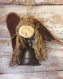 metalowy dzwoneczek w kształcie aniołka 30cm