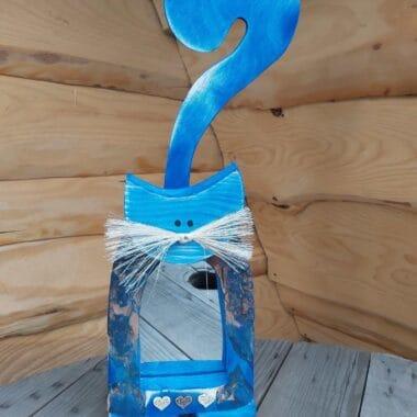 Niebieski kot lusterko